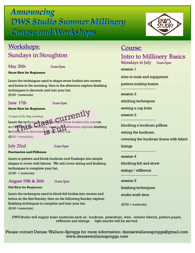 flyer- Summer workshops DWS full